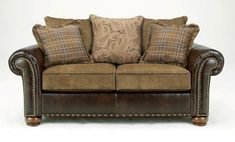 Inexpensive sofa beds Loveseat brown