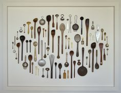 free form spoon collection display