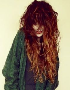 Long, curly, red hair!  My dream length