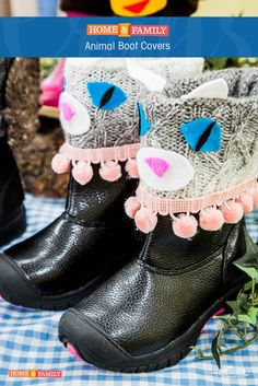 Animal Boot Covers -  Give old boots a fresh new look with @tmemme28's easy shoe DIY! Catch Home and Family weekdays at 10/9c on Hallmark Channel!