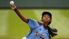 """chicagotribune:  """"Mo'Ne Davis dominated in her team's opening game in the Little League World Series on Friday, becoming the first girl to throw a shutout in LLWS history.  Davis' Philadelphia team - the Taney Dragons - beat a Tennessee team 4-0, and she struck out eight batters. Davis is the 18th girl to play in the Little League World Series but the first to throw a shutout. She also threw a shutout in the Mid-Atlantic Final win that sent her team to the LLWS. She was hitting 70 mph with…"""