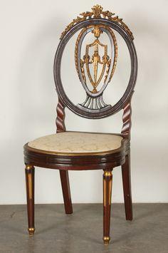 Mid 19th Century Louis XVI - style side chair. 447.JPG