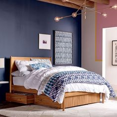 Mid-Century Storage Bed - Acorn | west elm