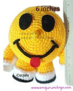 Smiley Glad Face Gratis Hæklet Mønster ~ Amigurumi To Go