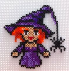 Witch - Halloween hama mini beads by Beatriz Sales Almazán
