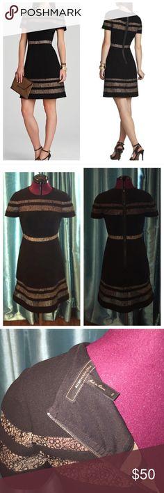 BCBG Black Kalli Dress with Lace Inserts Beautiful LBD with mesh lace inserts BCBGMaxAzria Dresses
