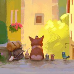 ArtStation - Small Town, Lynn Chen