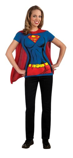 Want a quick simple costume idea! This shirt with removabel, logo printed cape looks great, and is so comfortable!
