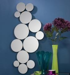 Bolla Wave Circles Frameless Wall  Mirror