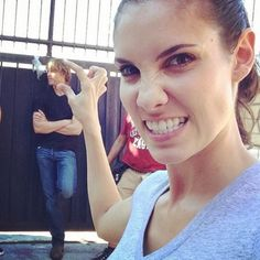 21 Ways Daniela Ruah has Mastered the Selfie -  1. The head squish. Instagram @danielaruah: Lets start our first day with a #squish #ncisla @ericcolsen