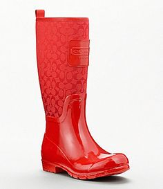 COACH PEARL RAIN BOOT -like i'd ever wear these in the rain