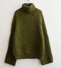 Big Cuff High Collar Thick Warm Solid Pullover Sweatshirt Wool Jumper Women Raglan Sweaters Topcover