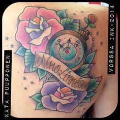 https://www.facebook.com/VorssaInk, http://tattoosbykata.blogspot.fi, #tattoo #tatuointi #katapuupponen #vorssaink #forssa #finland #traditionaltattoo #suomi #oldschool #pinup #rose