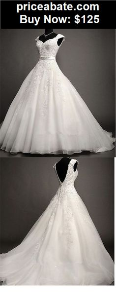 Wedding-Dresses: 2015 White/Ivory Lace Wedding Dress Bridal Gown Custom Size:6 8 10 12 14 16 18 + - BUY IT NOW ONLY $125