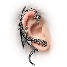 Dragon Ear Cuffs ❤ liked on Polyvore featuring jewelry, earrings, metal earrings, metal jewelry, ear cuff jewelry, earring ear cuff and earring jewelry