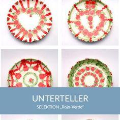 unterteller_rojoverde_sel Natural Selection, Simple Lines, Tablewares