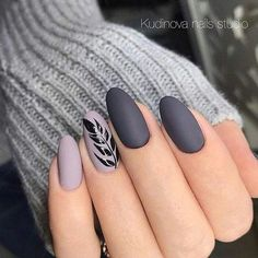 Cute Grey Nail Art Designs to Look Pretty on Parties Cute Grey Nail Art Designs to Look Pretty on Parties More from my site Lovely Grey and Golden Strip Nail Art Designs Cute pink bows with grey and pink nails Slate grey nail art design Grey Nail Art, Matte Nail Art, Gray Nails, Grey Art, Acrylic Nails Almond Matte, Fall Almond Nails, Autumn Nails, Winter Nails, Nails Design Autumn