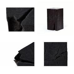Burnt Wood Furniture collection by designer Adrianna Shamaris.