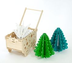 Wooden cart, pushchair for toys