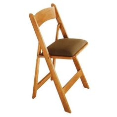 "Kestell Furniture Maple Folding Chair Seat Thickness: .5 "", Upholstery: Green Vinyl, Wood Finish: Fruitwood/Walnut"