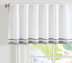 white and gray valance $29.50, pair this with pinks and or yellows! Oh so cute :)