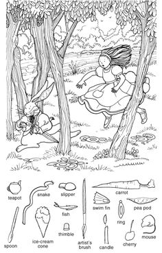 Library Activities, Kindergarten Activities, Fun Activities, Hidden Picture Games, Hidden Picture Puzzles, Barbie Coloring Pages, Colouring Pages, Hidden Pictures Printables, Find The Hidden Objects
