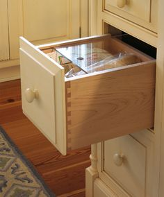 Bread drawer. Love it! Frees up counter!
