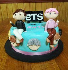 Bts Cake, Fashion Cakes, Sweet Cakes, Fondant Cakes, Cake Art, Party Cakes, Party Themes, Tart, Cake Decorating