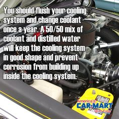 Have you flushed your coolant system? #tipoftheweek #carcare #maintenence #americascarmart #driveeasy