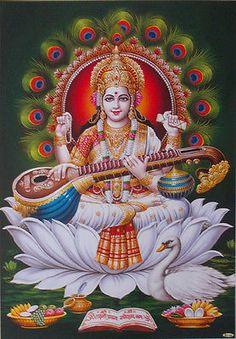 Saraswati Mata, Saraswati Goddess, Baby Krishna, Lord Krishna, Lord Shiva, Shiva Hindu, Shiva Shakti, Maa Durga Photo, Horse Background