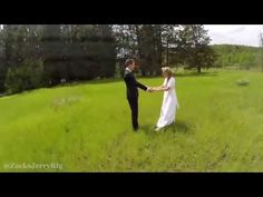A guy was filming a wedding and got this stunning aerial shot with his drone — and then it all came crashing down   Rare