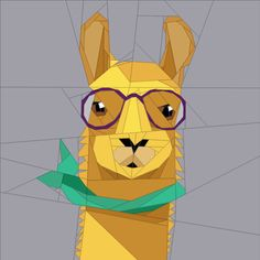 Looking for your next project? You're going to love Hipster Llama by designer JaneenVN.