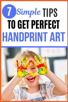 Struggling to get your toddler to stay still while you try to make the perfect handprint art for their grandparents? The struggle is real! Here are 7 simple tips to get perfect handprint art for kids crafts.