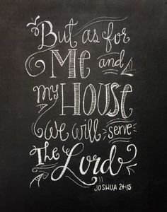 Chalkboard Wall Art as for me and my house, chalkboard wall art | signs | pinterest