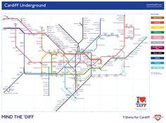 Cardiff Underground Maps - Welsh & English Versions