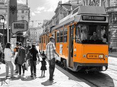 Straßenbahn in Mailand #Streetphotography #Tram #Milano #Milan #Straßenbahn