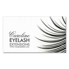 Minimalistic Eyelash Extensions Business Card. Make your own business card with this great design. All you need is to add your info to this template. Click the image to try it out!
