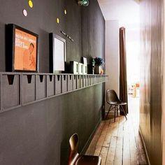 Black wall! #interiordesignparis #wall