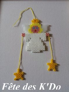 Christmas Angel hama perler ornament by fetedeskdo