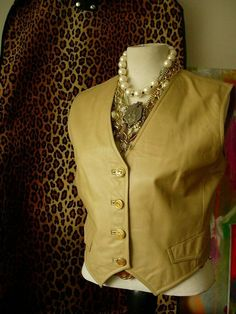 3d8232aba Ultra RARE Vintage GUCCI Leather VEST Statement Wardrobe Retro Mod 1960's GG  Sm #Gucci #Vest #All