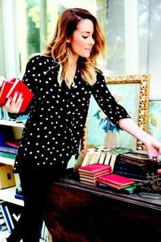 Le sigh, how beautiful does @Lauren Dailey-Conrad look in this dotted blouse? via @Erica Peak-Nordstrom