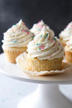 These Very Vanilla Cupcakes are soft and tender with a double dose of vanilla! Here's a cupcake for all of you vanilla lovers out there. I love a decadent chocolate dessert as much as the next gal, but vanilla has my heart and soul. In my opinion there's nothing better than a really fantastic dessert where vanilla shines front …