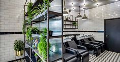Our latest salon fit out for Hare & Bone salon in Esher, Surrey. Reis design created the salon interior design Spa Design, Salon Design, Retail Interior Design, Concrete Finishes, Monochrome Color, Urban Industrial, Architectural Features, Brickwork, Hare