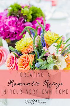 GIVEAWAY ENDS TONIGHT! Would you like to include a little more romance in your relationship? Here's how you can simply turn a small spot into a lovely romantic refuge for two! Creating a Romantic Refuge in Your Very Own Home ~ Club31Women