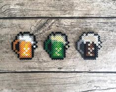 Perler Bead Beer | Guinness Pixel Art | Saint Patricks Day Bead Art
