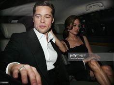 Angelina Jolie Photos - Actors Brad Pitt and Angelina Jolie depart the premiere for the film 'A Mighty Heart' at the Palais des Festivals during the International Cannes Film Festival on May 2007 in Cannes, France. - Cannes - A Mighty Heart - Premiere Brad Pitt And Angelina Jolie, Angelina Jolie Photos, Jolie Pitt, Brad Pitt Haircut, Mr And Mrs Smith, Classy Couple, Palais Des Festivals, Movie Couples, Thing 1