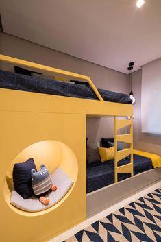 Bunk Bed Designs, Kids Bedroom Designs, Kids Room Design, Modern Kids Bedroom, Cool Kids Bedrooms, Bunk Beds Boys, Creative Kids Rooms, Kids Room Furniture, Dream Rooms