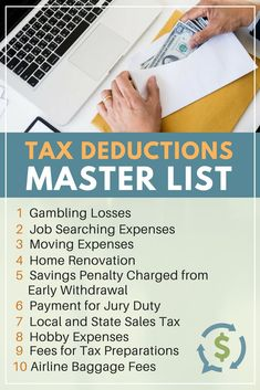 Tax time is just a few months away and it helps to know the types of tax deductions that help people save some money. Be in the know come tax season. Moving Expenses, Budgeting Finances, Best Money Saving Tips, Saving Money, Money Tips, Money Savers, Business Tax Deductions, Bookkeeping Business, Tax Refund