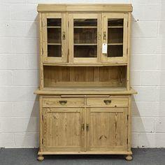 1930' Antique Pine Partly Glazed Dresser (F6205D)