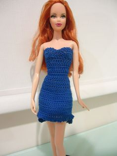 This hub is a free crochet pattern for a High Low Cocktail Dress for Barbie.